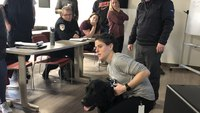 EMS agency receives K-9 first aid training