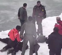 Video: Chicago man who fell into icy lake rescued by SWAT officers