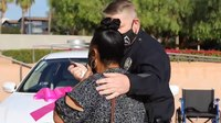 Hate crime victim gets new car thanks to LAPD officers