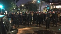 LAPD, protesters clash as crackdown of homeless encampment begins