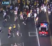 LAPD: 76 arrested, 8 cops injured after Lakers' championship win