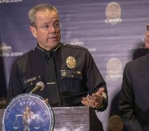 Police Chief Michel Moore and other city leaders announced LAPD officers with college degrees will be eligible for bi-weekly bonuses. (Photo/TNS)