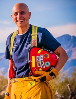 Baker encourages others to seek early detection of firefighter cancer. Photo courtesy of Laura Baker via ZiembaPhoto