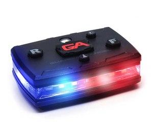 Shoulder magnet lights improve officer visibility.