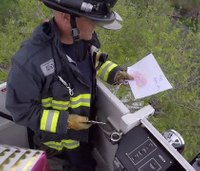 Video: Firefighters save boy's note for mom in heaven