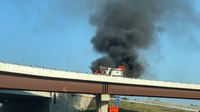 Va. rig catches fire on the highway during patient transport
