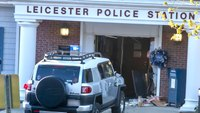 Police: Armed driver rams Mass. police station, is fatally shot