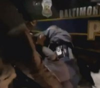 Video: Baltimore sergeant attacked by onlookers while making arrest