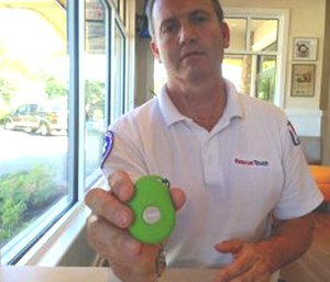 Scott Lepper and the RescueTouch device.