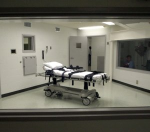 Alabama's lethal injection chamber at Holman Correctional Facility in Atmore, Ala., is pictured in this Oct. 7, 2002 file photo. (AP Photo/File)