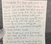 Mass. police share letter from woman they saved after an overdose