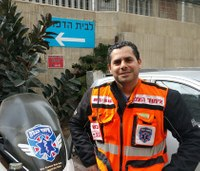 Israeli volunteer EMT responds to record calls