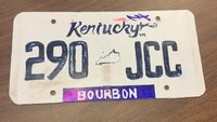 Police stop driver with hand-drawn license plate