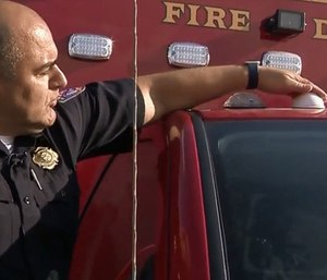 Leon Valley equipped 17 emergency vehicles with the GTT Opticom Emergency Preemption Light Control system, which clears the way for first responders by turning any traffic light green. (Photo/KSAT)