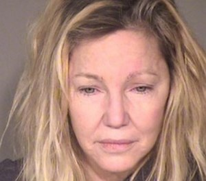 Heather Locklear was arrested Sunday night for an incident where she punched a police officer and kicked an EMT, authorities said. (Photo/Ventura County Police Dept.)
