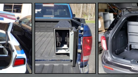 AWS Weapon Lockerskeep guns secure and out of sight in the back of the officer's vehicle, even with the back hatch or trunk lid open. (Courtesy photo)