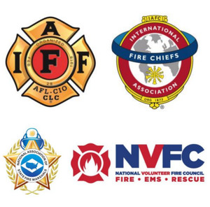 The International Association of Fire Chiefs, International Association of Fire Fighters, National Association of State Fire Marshals and National Volunteer Fire Council issued a joint statement urging states to give fire and EMS personnel priority access to the COVID-19 vaccine.