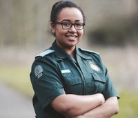 Woman training to be paramedic after horrific crash