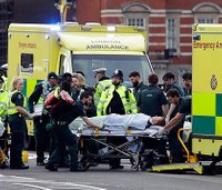 5 dead, 40 hurt in London car rampage, knife attack