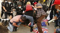 LAPD arrests 6 in clash between pro-Trump, anti-Trump groups