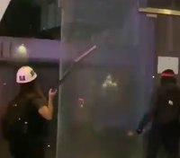 Damage reported in riot that targeted LAPD headquarters