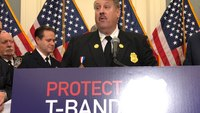 Congress members, first responders hold press conference calling for T-band protection