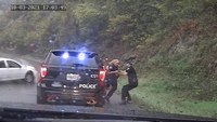 Watch: Officer avoids disaster by inches thanks to partner's quick reflexes
