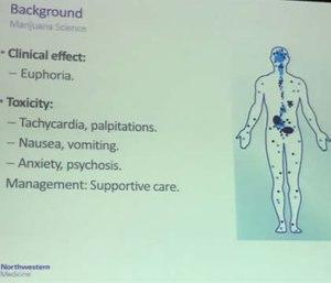 Marijuana toxicity puts patients at risk of traumatic injury.