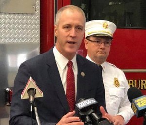 Newburgh City Manager Michael Ciaravino said he would ask the City Council to consider using more than $500,000 in extra sales tax revenue to temporarily save the jobs of 12 firefighters. (Photo/Newburgh Firefighters Local 589)