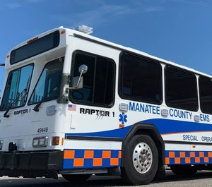 The RAPTOR can respond to mass casualty incidents such as vehicle crashes, mass shootings or natural disasters.(Photo/Manatee County EMS)