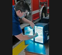 W.Va. FD sanitizes face masks with UV boxes