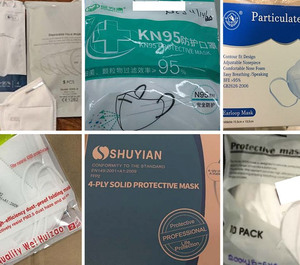 Some of the masks acquired and distributed by the state, all of which tested below the standard N95 masks preferred for protection from coronavirus.