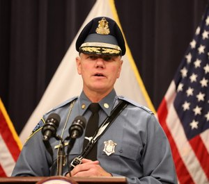 Mass. State Police Col. Christopher Mason presented proposals to lawmakers that reformed several key departmental areas. (Photo/TNS)