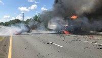 Mass. FF, trooper injured after vehicle strikes police cruiser