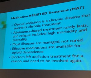 Methadone is a medication-assisted treatment for opioid addiction.