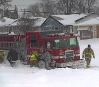 Firefighter safety on winter roads