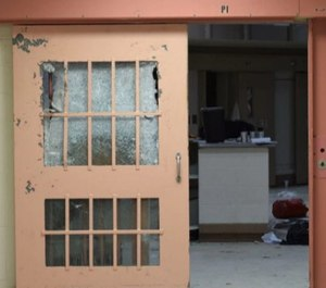 Damage to a housing unit at the Souza-Baranowski Correctional Center done after an inmate riot on Jan. 9, 2017. (Photo/Massachusetts Department of Correction)