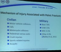 What are the benefits, risks of binding a pelvic fracture?