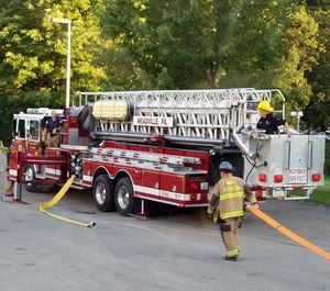 This photo shows a Meadville Central fire truck during a training exercise with the West Mead #1 Volunteer Fire Company. Two of the Meadville Central Fire Department's fire trucks are in need of costly replacements, posing budget challenges for officials.