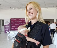 Body armor saves pregnant paramedic and her baby