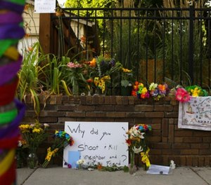 A memorial to aJustine Damond, from Sydney, Australia, who was shot and killed late Saturday by police, is seen Sunday evening, July 16, 2017 in Minneapolis.