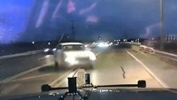 Dashcam video: Car crashes head-on into trooper