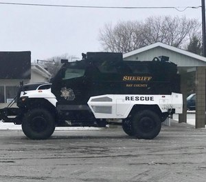 The Bay County Sheriff's Office's MRAP.