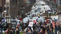 Thousands protest Mich. social distance order