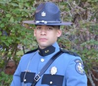Trooper struck by car in high-speed pursuit released from hospital