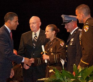 Maryland Lieutenant Governor Anthony Brown delivers Commencement Address at the 138th Maryland State Police Trooper Graduation. (Photo/Office of the Maryland Governor)