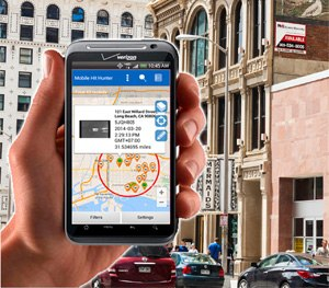 Vigilant's Mobile Hit Hunter is an analytic tool that matches privately collected license plate reader (LPR) data with police agencies' hotlists to let officers in the field know where vehicles of interest are located in proximity to their person.