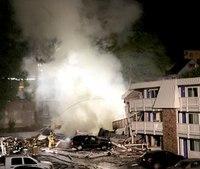 Blast demolishes part of Wash. state motel, 1 critically injured