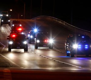 A Palm Beach County deputy was seriously injured while working in Vice President Mike Pence's motorcade on March 7, 2020. (Photo/TNS)