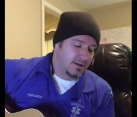 Paramedic musician streams concert from EMS station